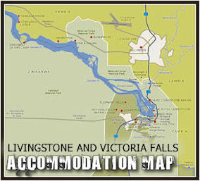 victoria falls accommodation map